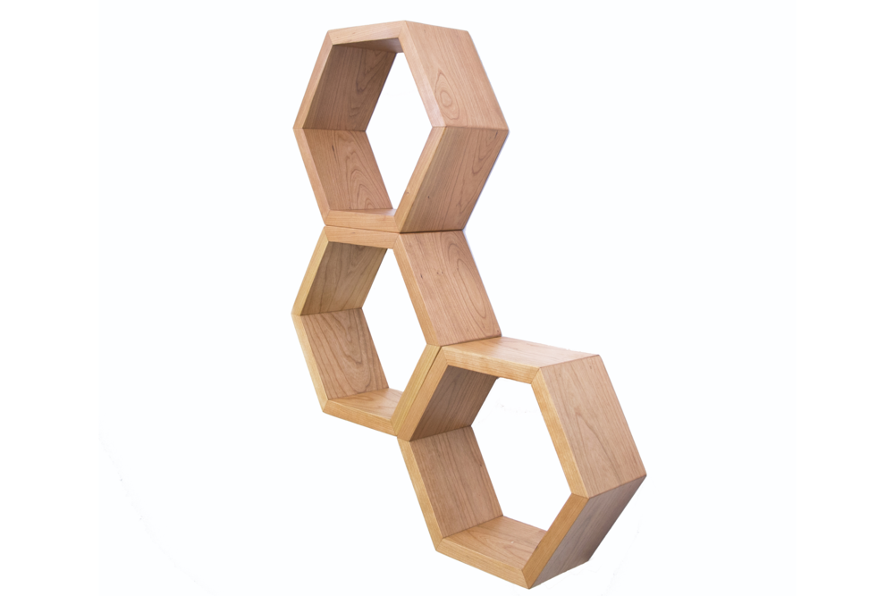 Haase Handcraft Cherry Honeycomb Shelves - tinylifesupply.com