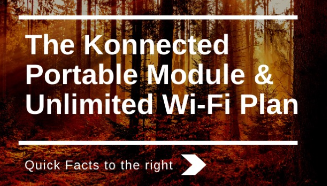 Konnected Portable LTE Cellular Wi-Fi Module & Service Plan