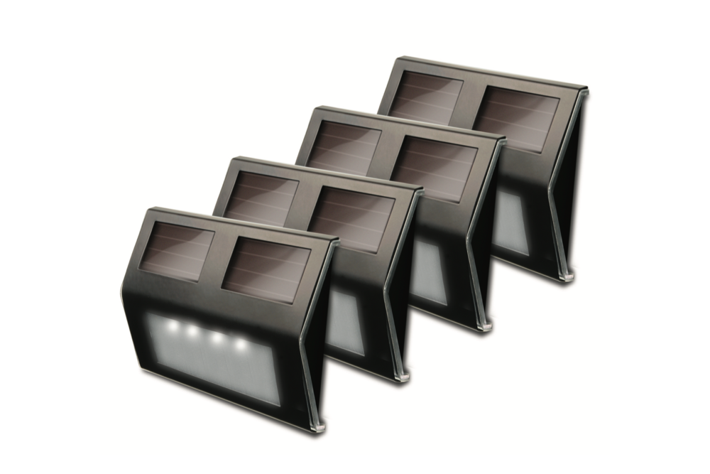 Maxsa Solar Metal Deck Lights (Pack of 4)