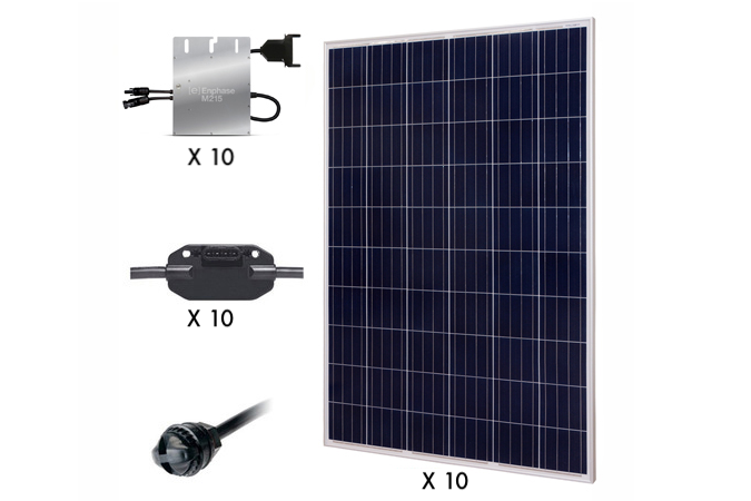 Renogy 2.5KW Grid Tied Kit