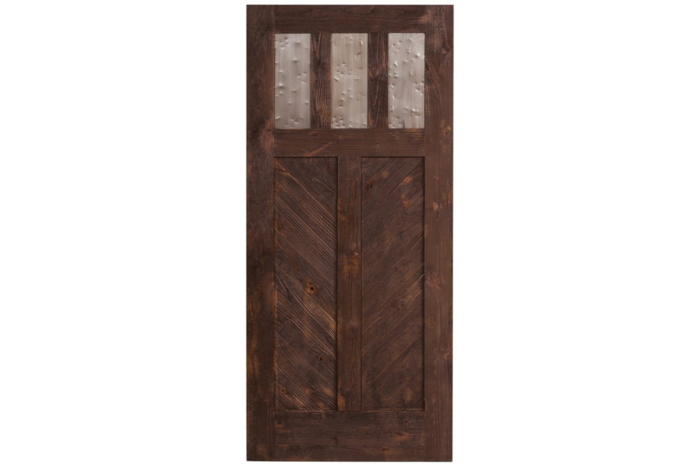Rustica Hardware Exterior Chevron Swinging Door