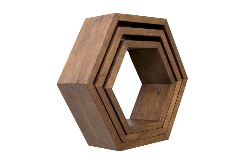 Haase Handcraft Walnut Honeycomb Shelves - tinylifesupply.com