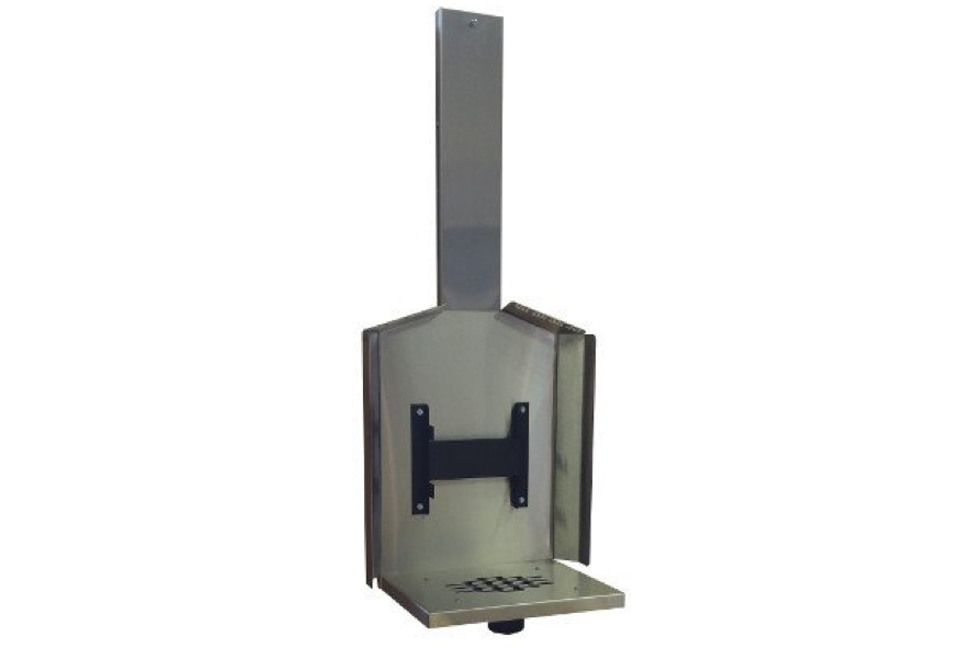 Cubic Stainless Steel Wall Mount with Fresh Air Intake - tinylifesupply.com