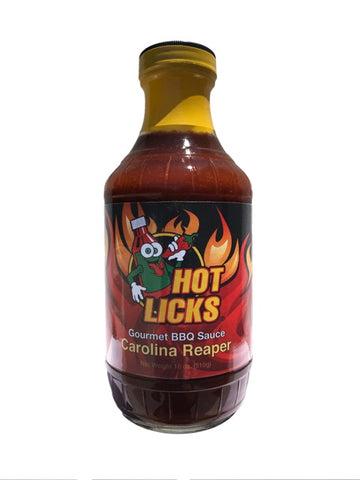 Hot Licks Carolina Reaper Gourmet BBQ Sauce