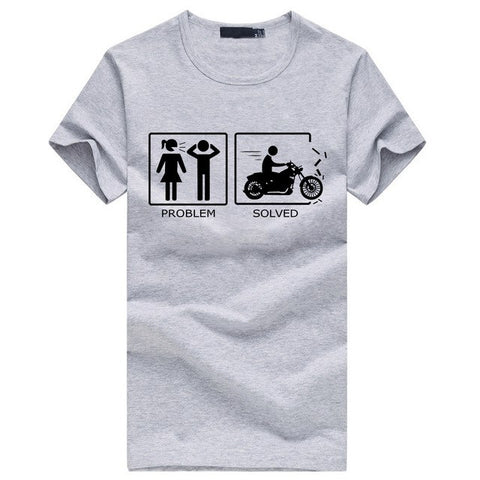 Problem Solved Motorcycle T-Shirt