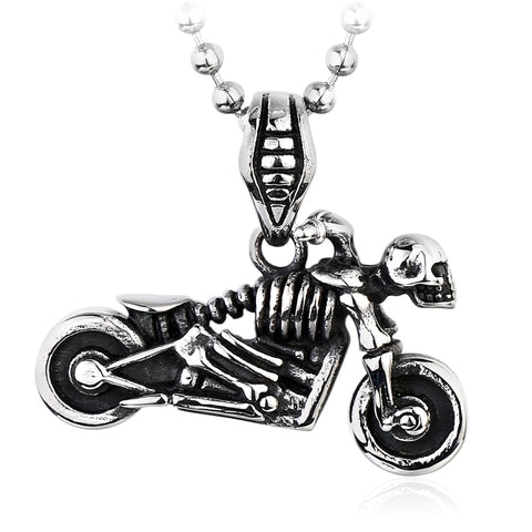 Skull Motorcycle Necklace