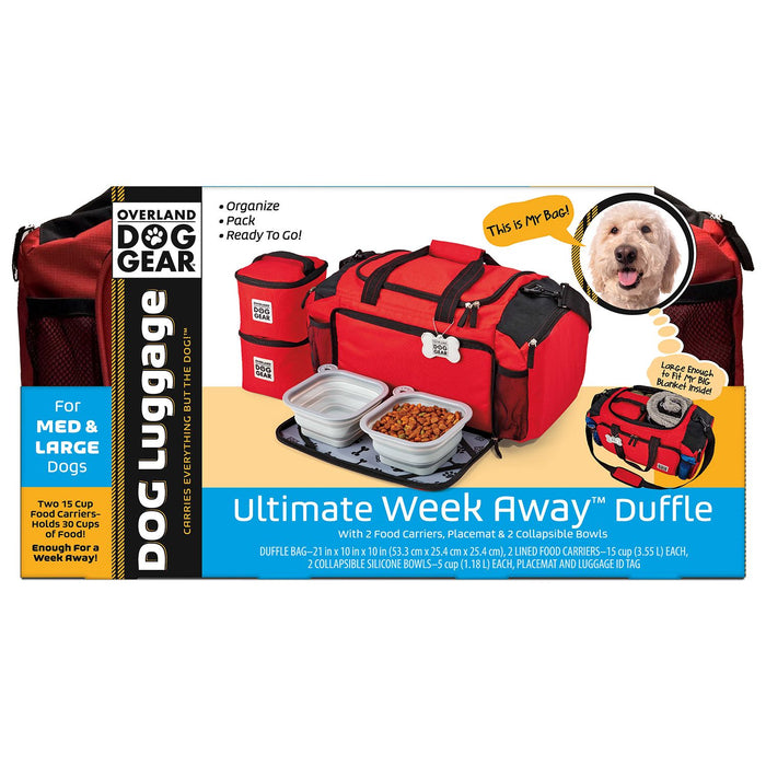 Overland Dog Gear Ultimate WeekAway Duffle Bag For Medium / Large Dogs - PJ Pet Products - My Pet Gift Box