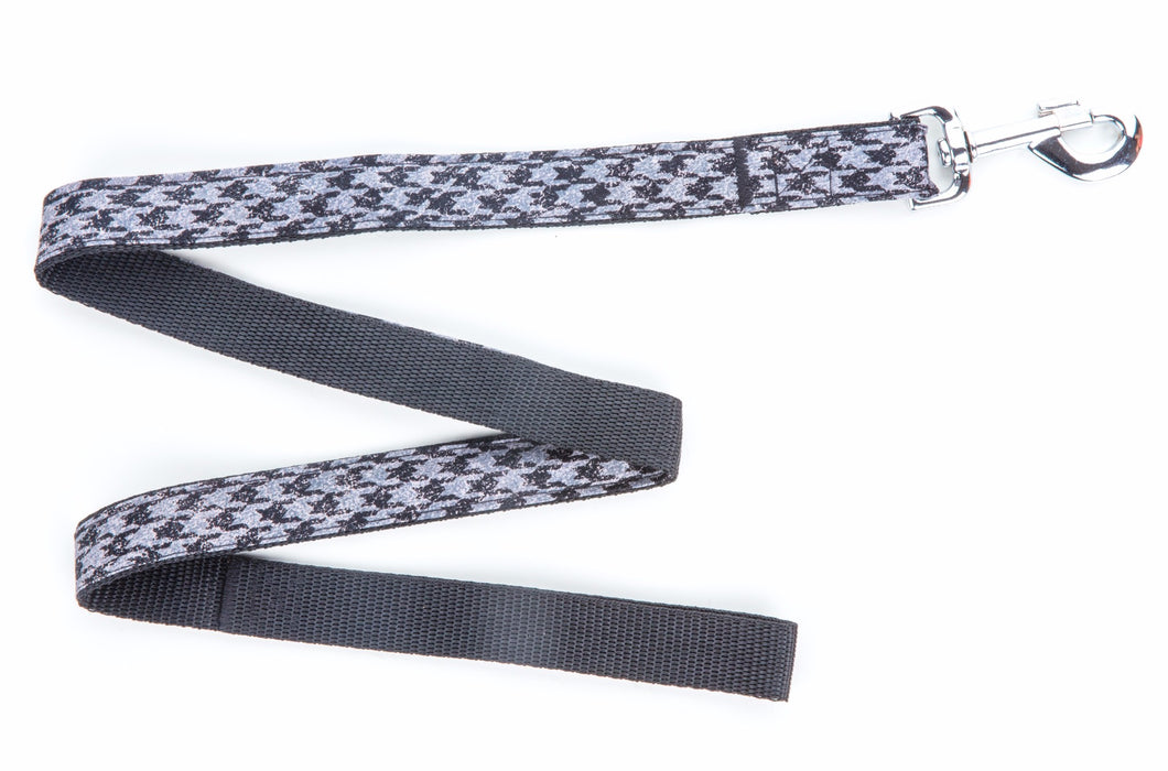 Black Houndstooth Dog Lead - Pet Pooch Boutique - My Pet Gift Box