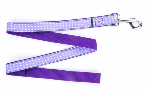 Purple Polka Dot Dog Lead - Pet Pooch Boutique - My Pet Gift Box