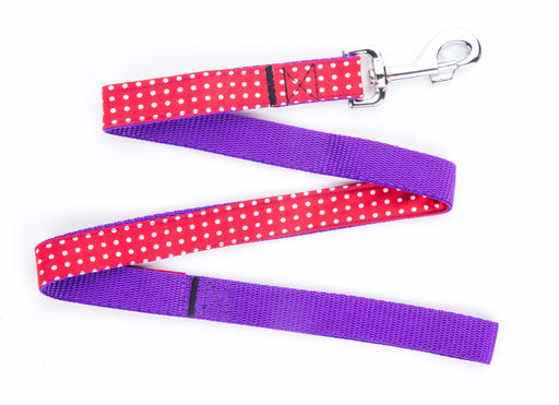 Red Polka Dot Dog Lead - Pet Pooch Boutique - My Pet Gift Box