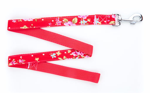 Red Vintage Dog Lead - Pet Pooch Boutique - My Pet Gift Box
