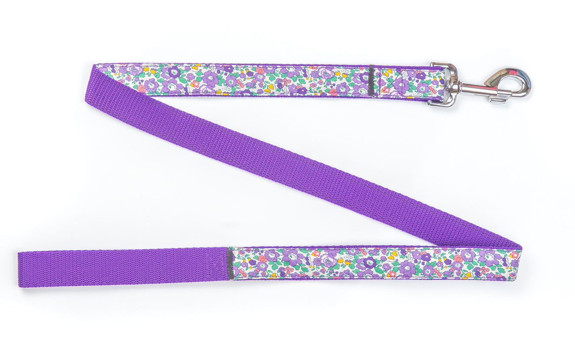 Betsy Ann Liberty Purple Dog Lead - Pet Pooch Boutique - My Pet Gift Box