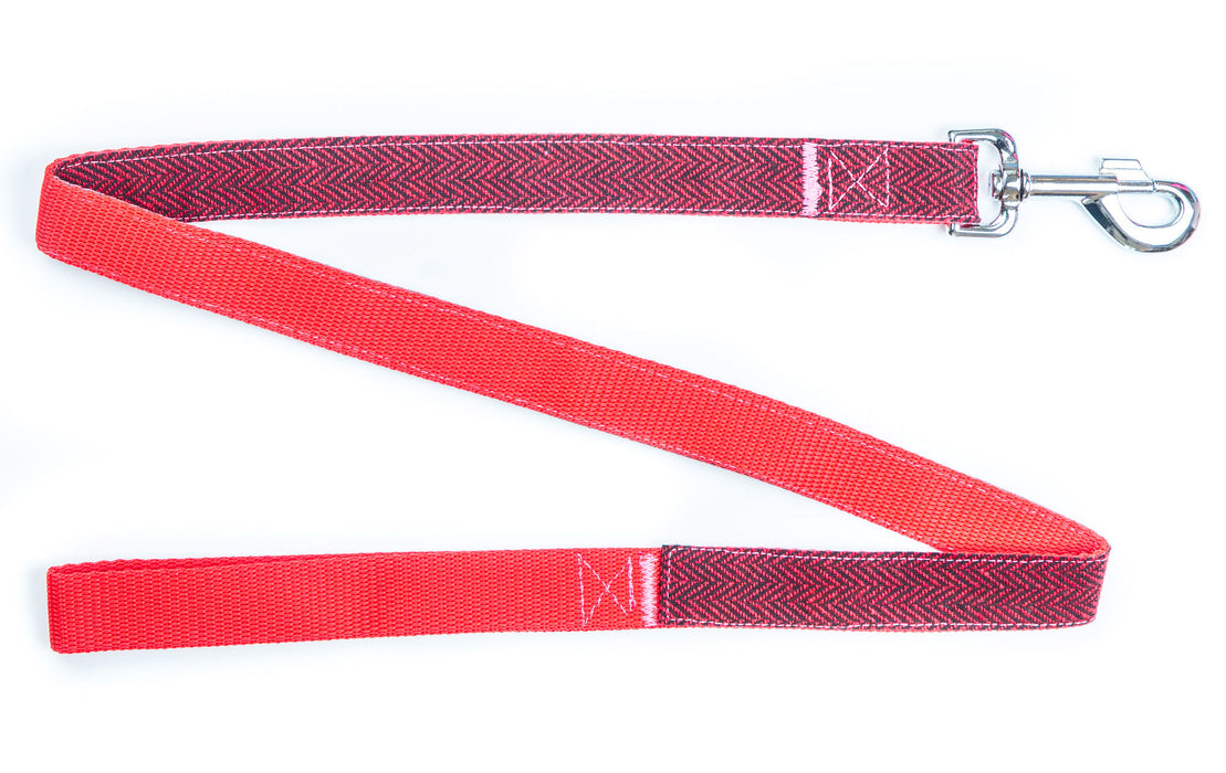 Red Tweed Dog Lead - Pet Pooch Boutique - My Pet Gift Box