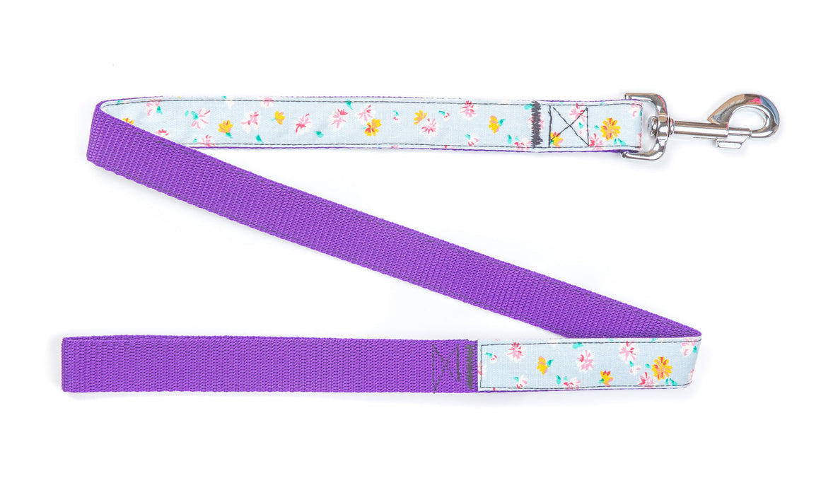Handmade White Daisy Denim Dog Lead - Pet Pooch Boutique - My Pet Gift Box