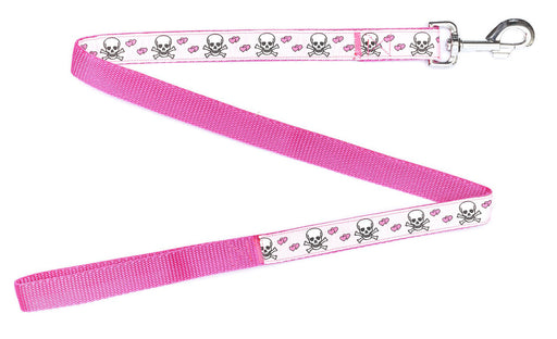 Handmade Pink Blush Skulls Dog Lead