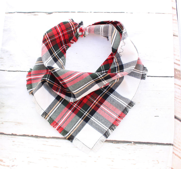 Alfies Plaid Frayed Scamps Dog Bandana - Pet Pooch Boutique - My Pet Gift Box