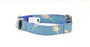 Denim Blue Gold Dog Collar - Pet Pooch Boutique - My Pet Gift Box