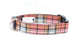 Mocha Barkberry Plaid Dog Collar - Pet Pooch Boutique - My Pet Gift Box