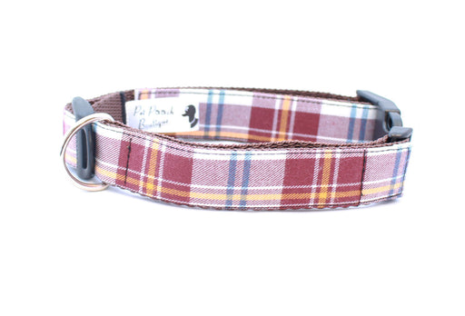 Acorn Barkberry Plaid Dog Collar - Pet Pooch Boutique - My Pet Gift Box