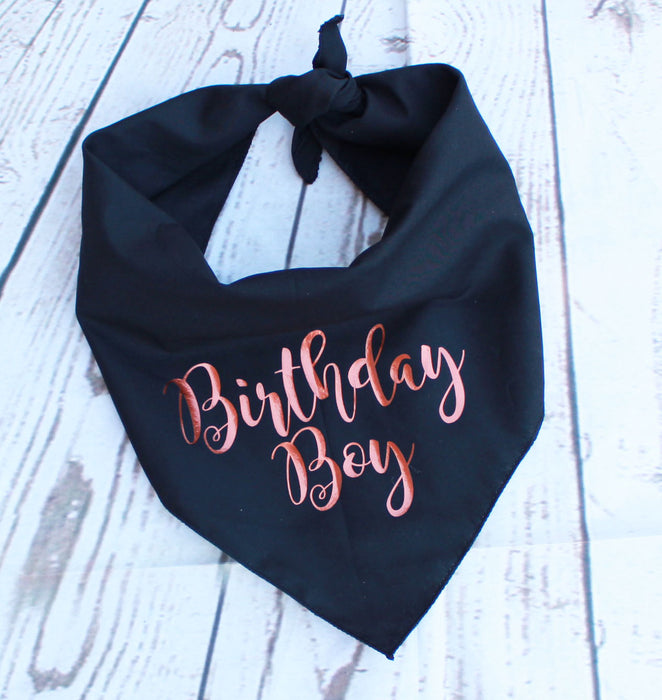 Copper Gold Birthday Boy Dog Bandana - Pet Pooch Boutique - My Pet Gift Box