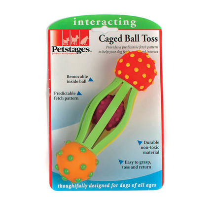 Petstages Caged Ball Toss Dog Toy - Vital Pet Products - My Pet Gift Box