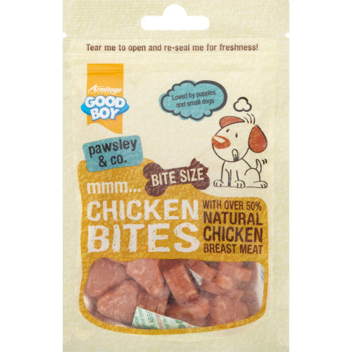 10 x Good Boy Deli Bites Chicken Dog Treats 65g - Vital Pet Products - My Pet Gift Box