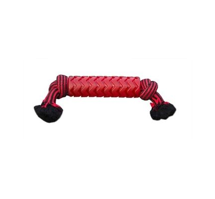 Tough Tugger Tpr Sleeved Rope Red Dog Toy - Vital Pet Products - My Pet Gift Box