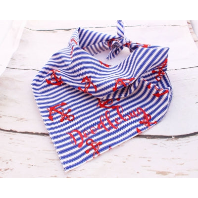 Anchors Personalised Dog Bandana - Pet Pooch Boutique - My Pet Gift Box