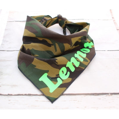 Army Personalised Dog Bandana - Pet Pooch Boutique - My Pet Gift Box