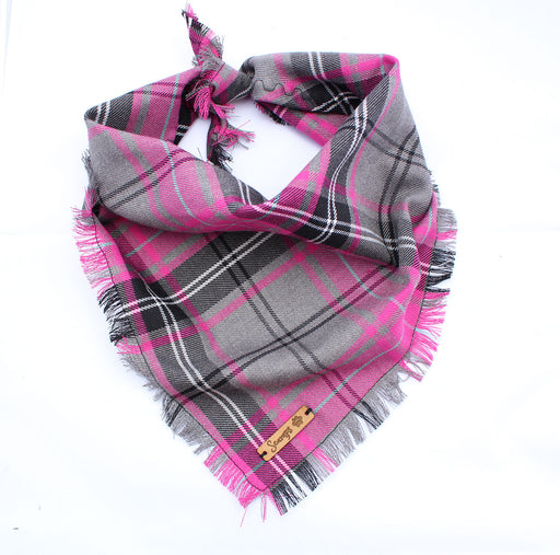 Buffalo Pink Plaid Dog Bandana - Pet Pooch Boutique - My Pet Gift Box