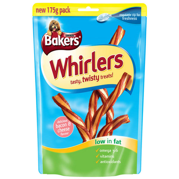 6 x Bakers Allsorts Whirlers Dog Treats 175g - Vital Pet Products - My Pet Gift Box