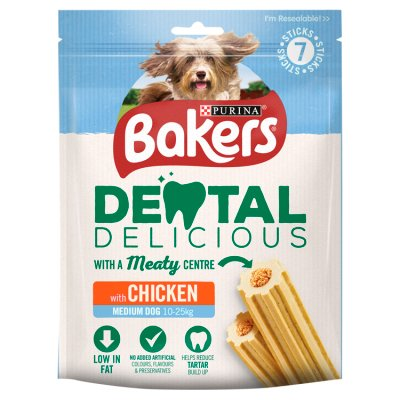 6 x Bakers Dental Delicious Chicken Dog Treats 200g - Vital Pet Products - My Pet Gift Box
