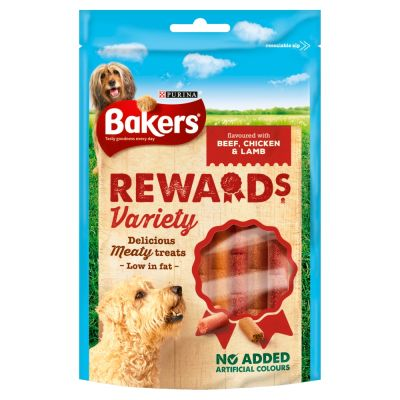 8 x Bakers Rewards Variety - Beef, Chicken & Lamb Dog Treats 100g - Vital Pet Products - My Pet Gift Box