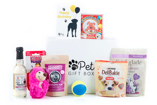 The Personalised Birthday Girl Dog Gift Box - My Pet Gift Box - My Pet Gift Box