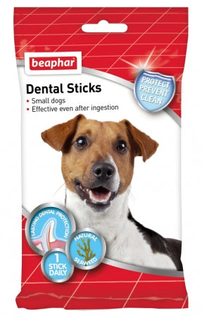 12 x Beaphar Beaphar Dental Sticks for Small Dogs - Vital Pet Products - My Pet Gift Box