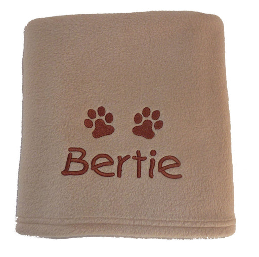 Personalised Small Dog Blanket - Biscuit