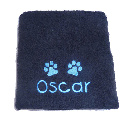 Personalised Dog Towel - Black - My Posh Paws - My Pet Gift Box