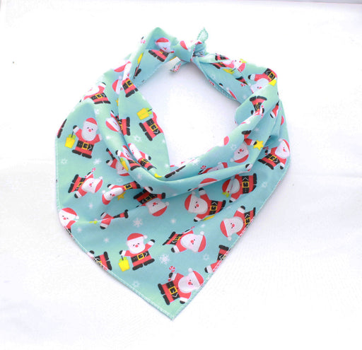 Blue Santa Christmas Dog Bandana - Pet Pooch Boutique - My Pet Gift Box