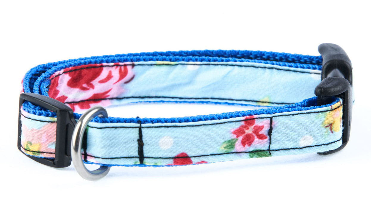 Blue Vintage Slim fit Dog Collar - Pet Pooch Boutique - My Pet Gift Box