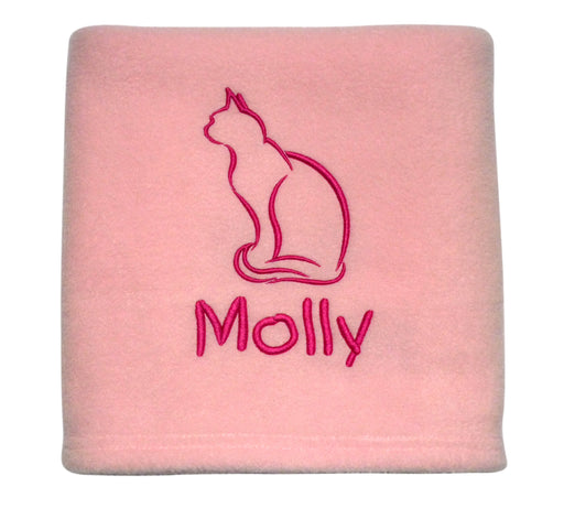 Personalised Cat Blanket - Pink - My Posh Paws - My Pet Gift Box