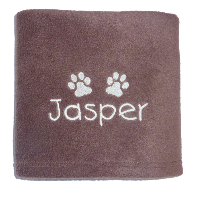 Personalised Large Dog Blanket - Chocolate - My Posh Paws - My Pet Gift Box