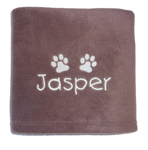 Personalised Small Dog Blanket - Chocolate - My Posh Paws - My Pet Gift Box