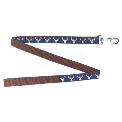 Country Stag On Navy Blue Dog Lead - Pet Pooch Boutique - My Pet Gift Box