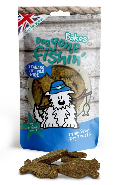 Dog Gone Fishin Bakes Seabass & Wild Rice Dog Treats - Dog Gone Fishin - My Pet Gift Box
