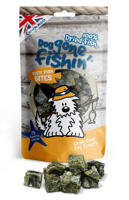 Dog Gone Fishin Bites White Fish Dog Treats - Dog Gone Fishin - My Pet Gift Box