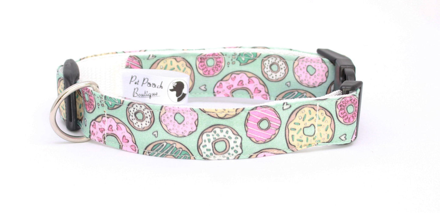 Handmade Love Doughnuts Dog Collar - Pet Pooch Boutique - My Pet Gift Box