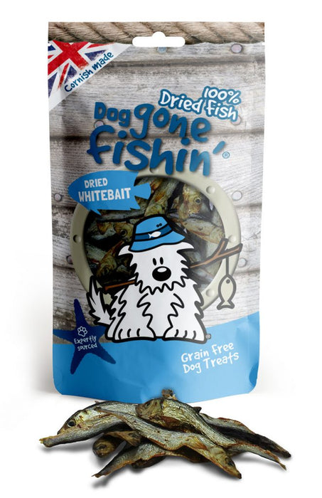 Dog Gone Fishin 100% Dried Whitebait Fish Dog Treats - Dog Gone Fishin - My Pet Gift Box