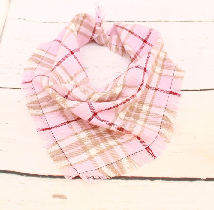 Strawberry Shortcake Frayed Scamps Dog Bandana - Pet Pooch Boutique - My Pet Gift Box