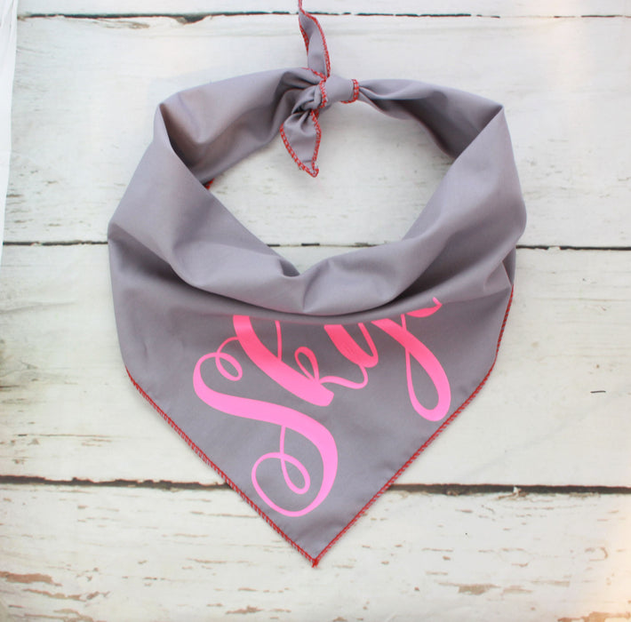 Grey & Neon Personalised Dog Bandana - Pet Pooch Boutique - My Pet Gift Box