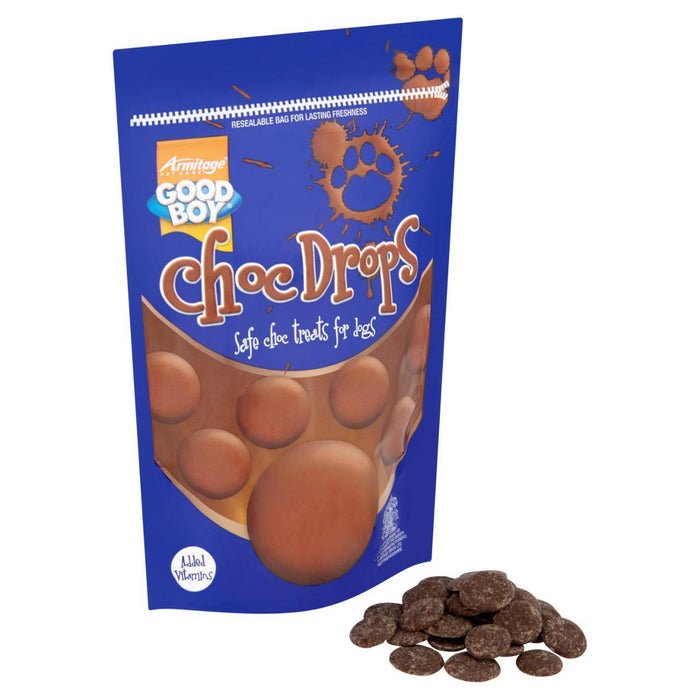 8 x Good Boy Choc Drops Dog Treats Pouch 250g - Vital Pet Products - My Pet Gift Box